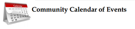 Community Calendar of Events