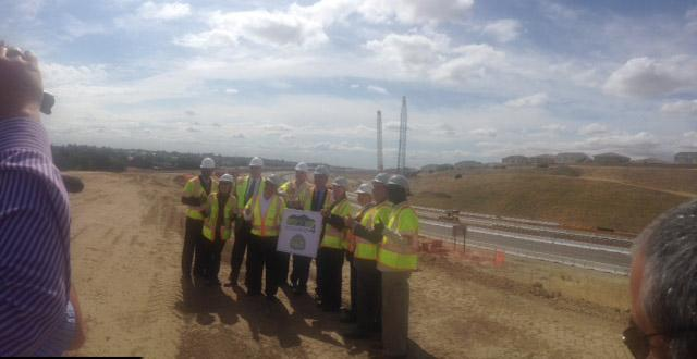 49aa6140b6 Groundbreaking of State Route 160 Highway 4 Direct Connector Ramps ...