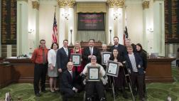 Assemblymember Frazier gathered his disability rights heroes on the Assembly Floor for a photo.
