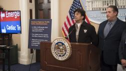 Actor Erik Estrada speaks at Assemblymember Frazier's press conference